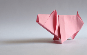year of the pig origami
